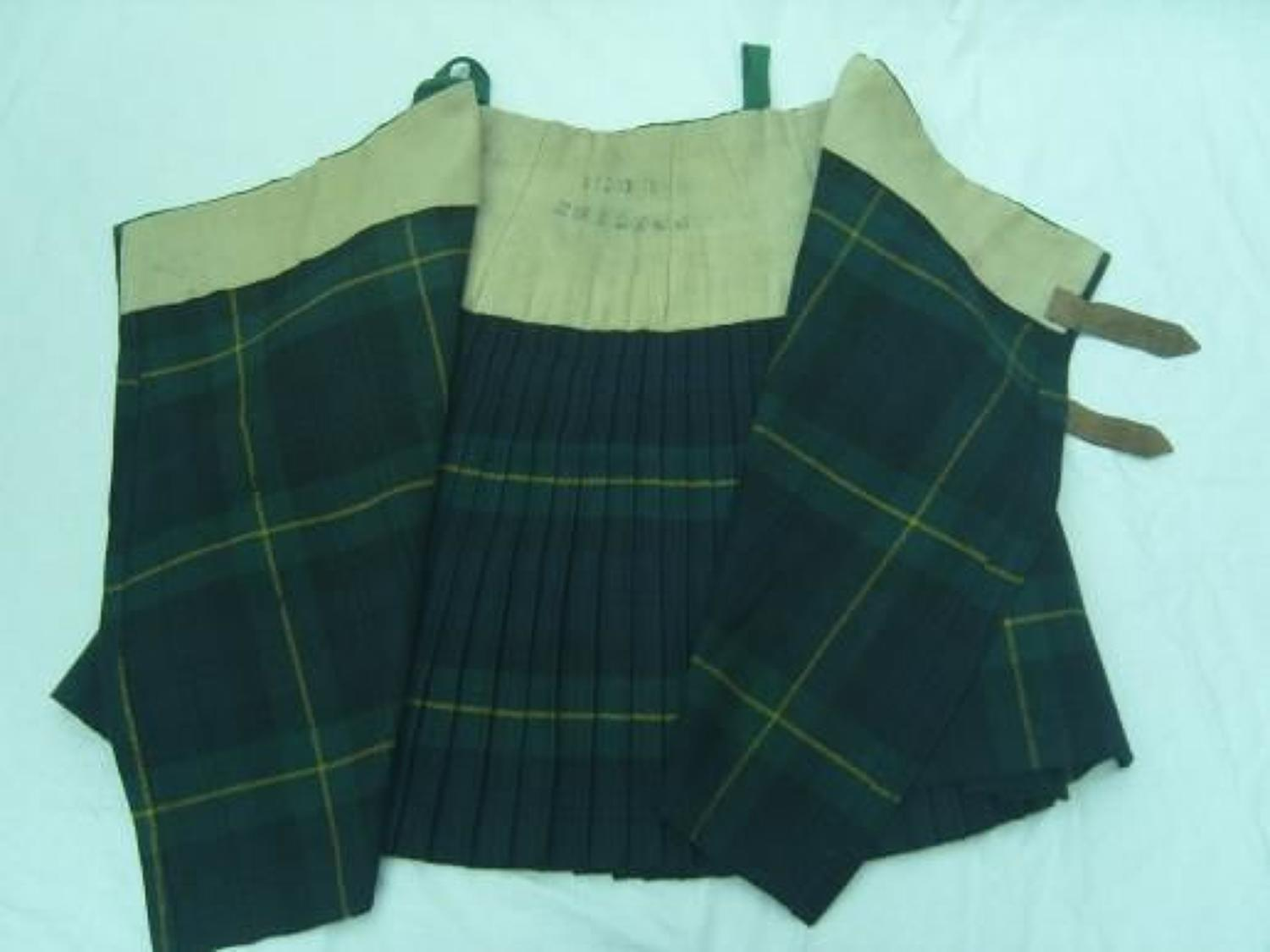 WW1 GORDON HIGHLANDERS KILT