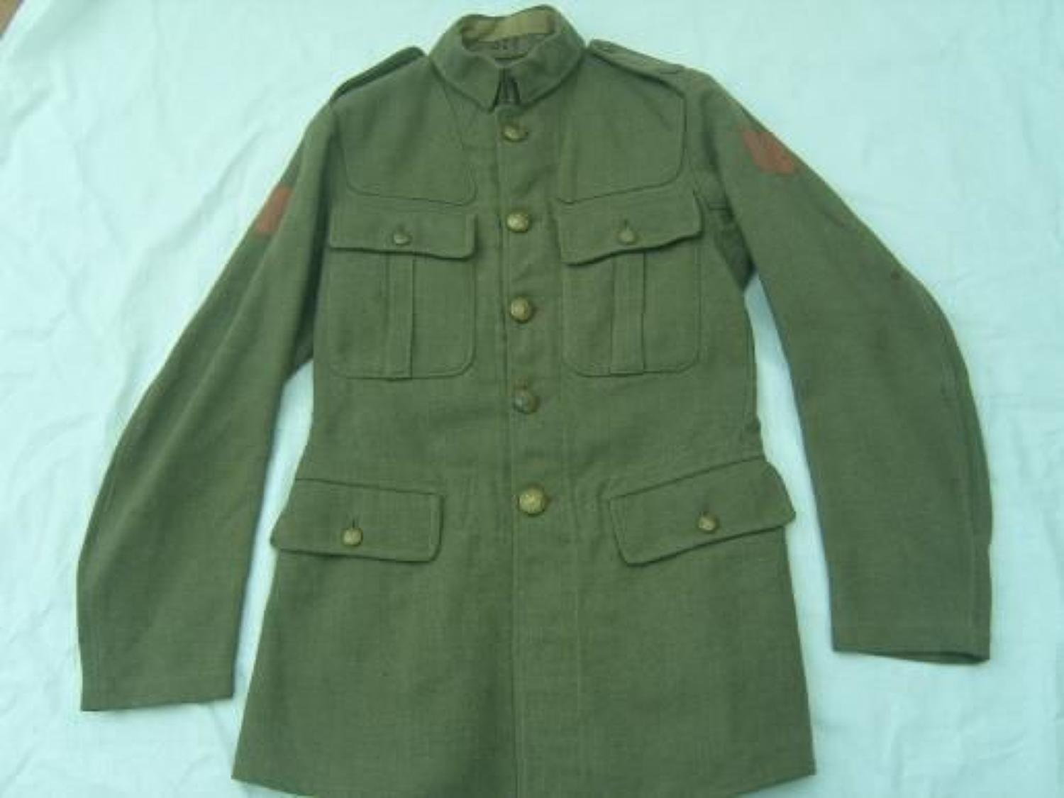 1918 PATTERN OTHER RANKS BRITISH SERVICE DRESS TUNIC: