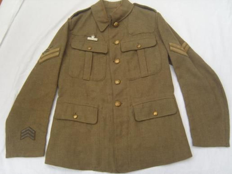 1902 PATTERN OTHER RANKS BRITISH SERVICE DRESS TUNIC: RGA CORNWALL