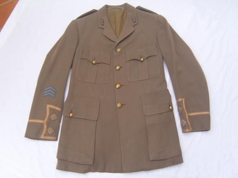 WW1 BRITISH ARMY CUFF RANK TUNIC TO ROYAL ARTILLERY LIEUTENANT