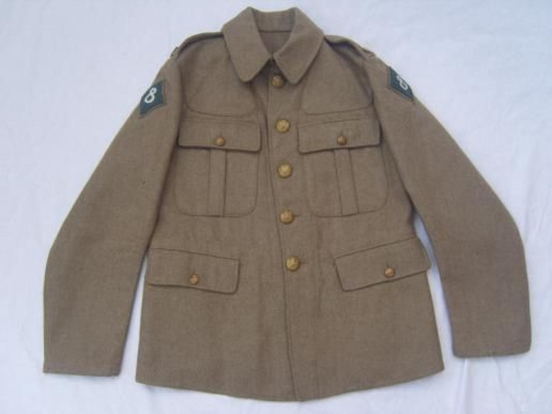 1902 PATTERN BRITISH SERVICE DRESS TUNIC: DATED 1917