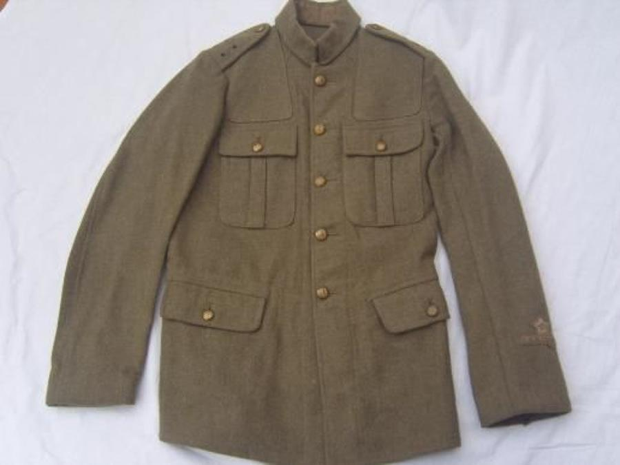 1902 PATTERN BRITISH SERVICE DRESS TUNIC: STONEYHURST CADET