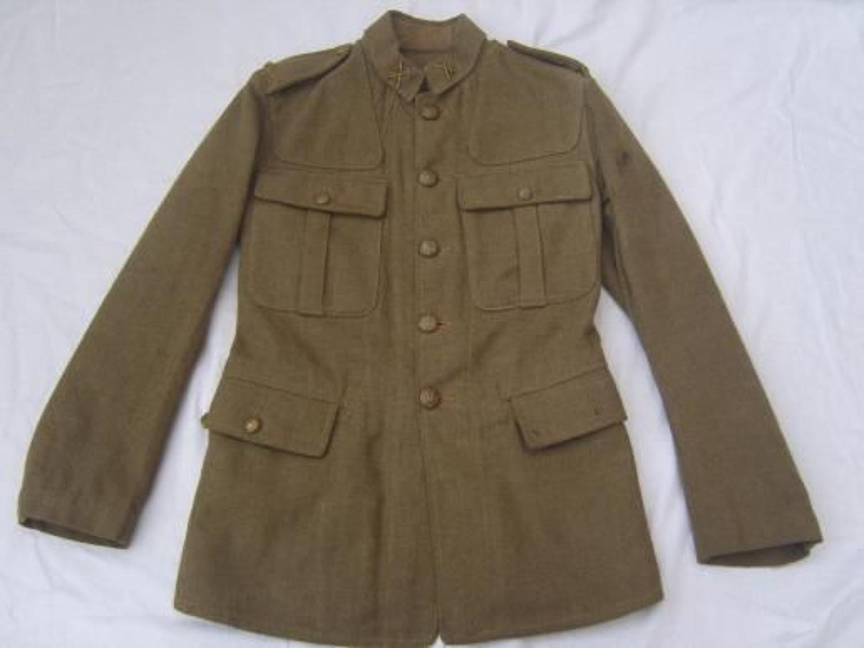 1902 PATTERN BRITISH SERVICE DRESS TUNIC: DATED 1918