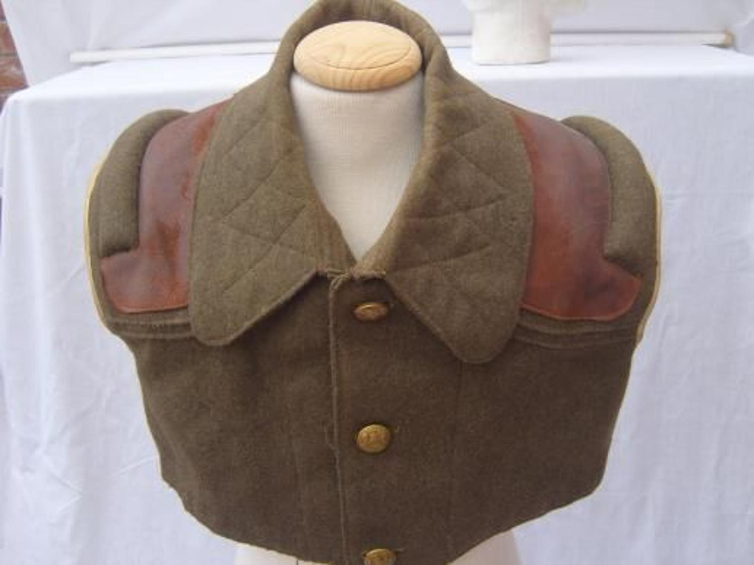 WW1 BRITISH MACHINE GUNNERS CAPE / WAISTCOAT