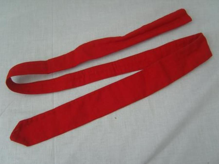 RED TIE AS WORN BY THOSE ISSUED HOSPITAL BLUES