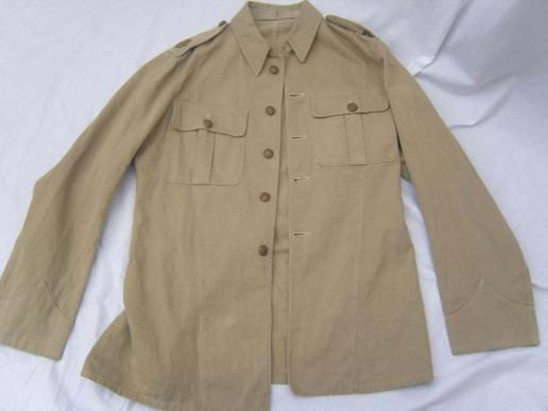 LATE WW1 / POST WAR BRITISH KHAKI DRILL TUNIC