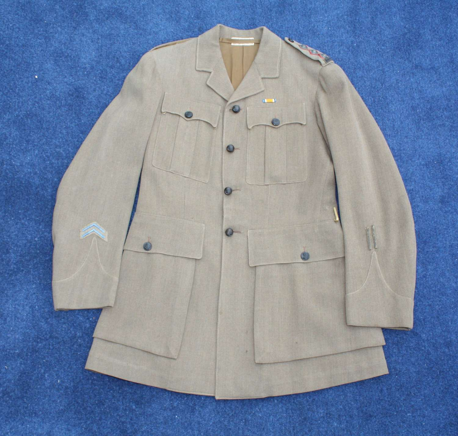WW1 BRITISH OFFICERS SERVICE DRESS TUNIC KRRC: WOUNDED & POW