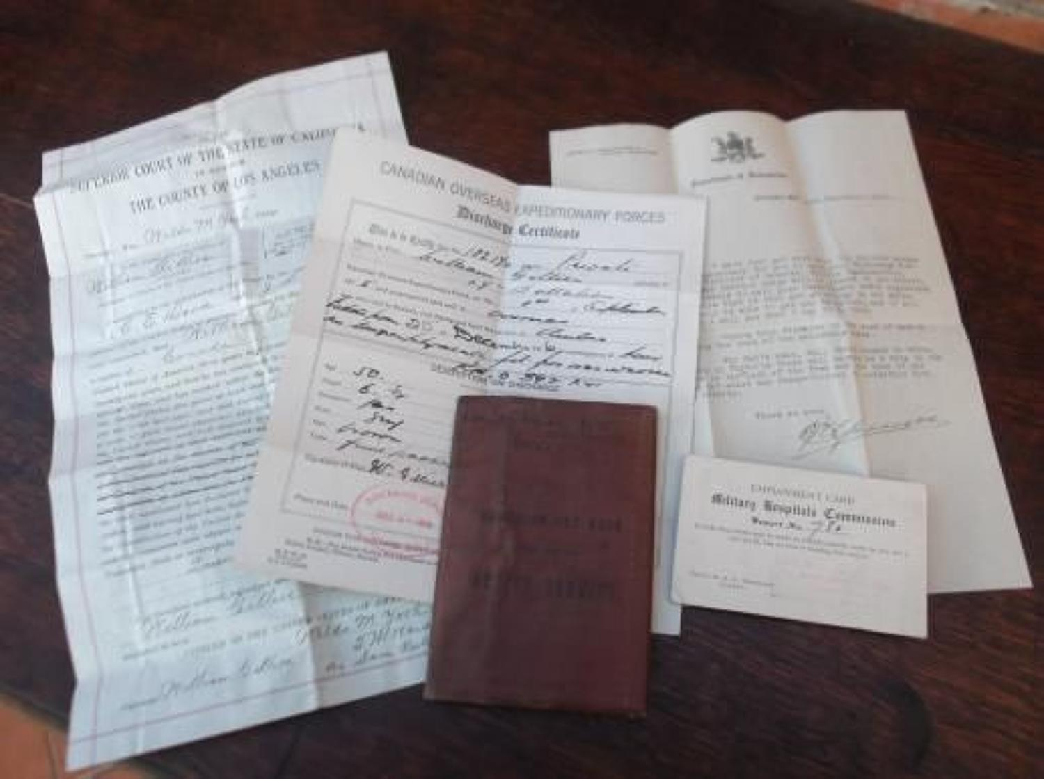 WW1 Canadian Army Pay Book: William Gillies