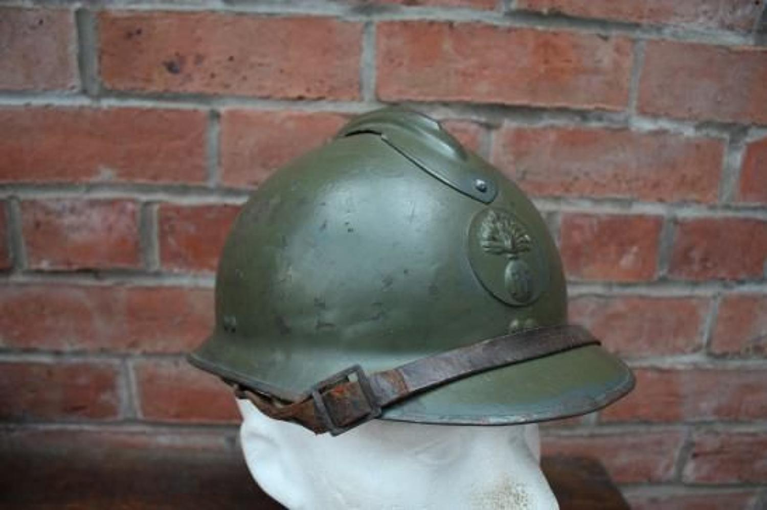 Original WW2 vintage 1939 - 1945 French Army Infantry Helmet