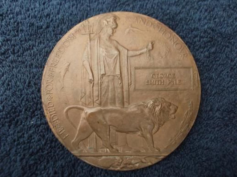 Gallipoli Death Plaque: 5th East Lancashire Regiment