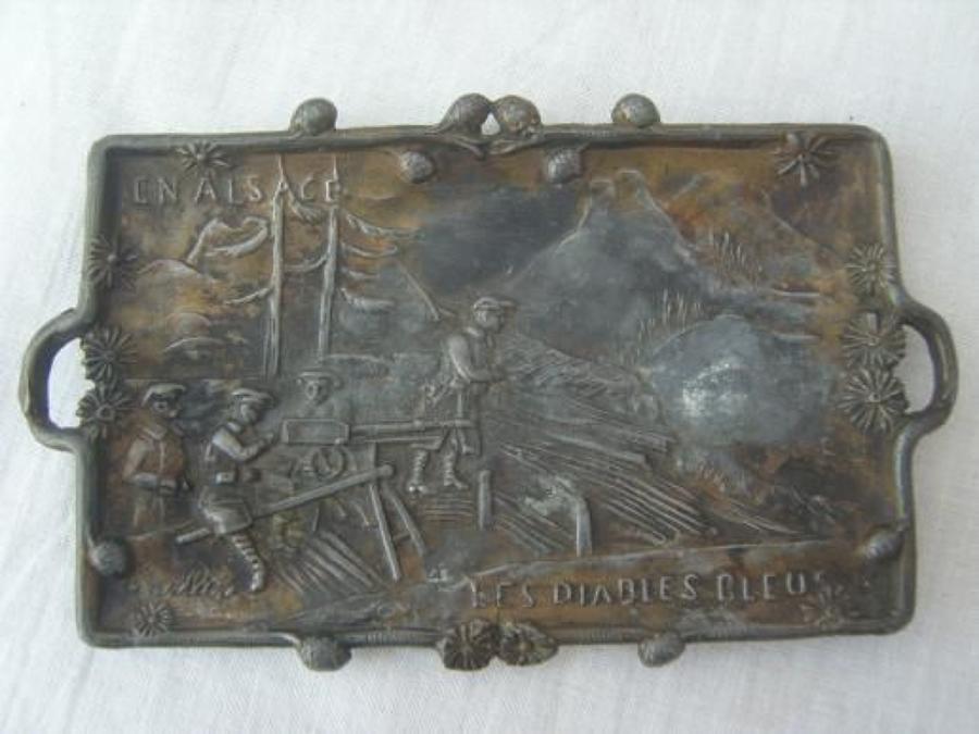 WW1 French souvenir Alsace Chasseur Alpine 'Blue Devils'