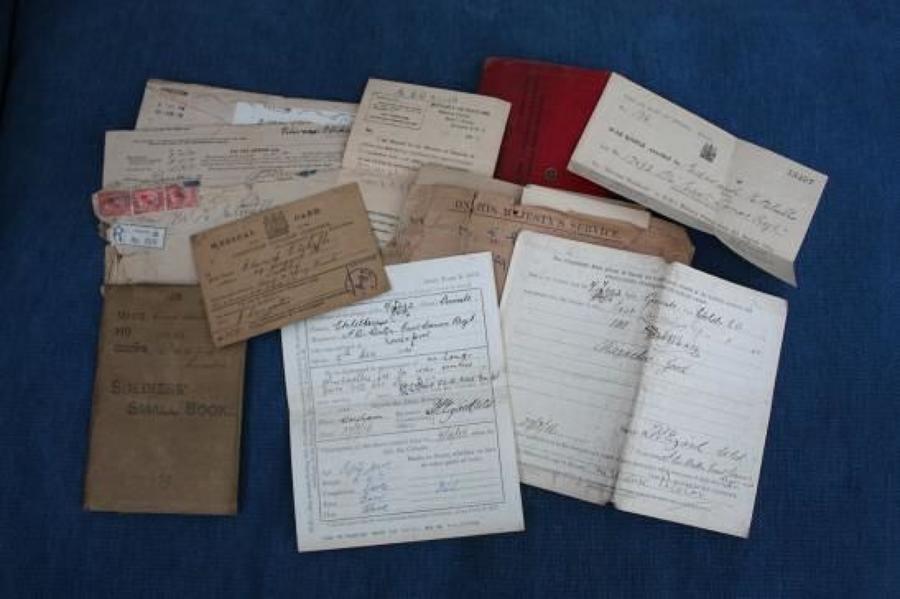WW1 British Army Small Book & Documents: Edward Echells East L