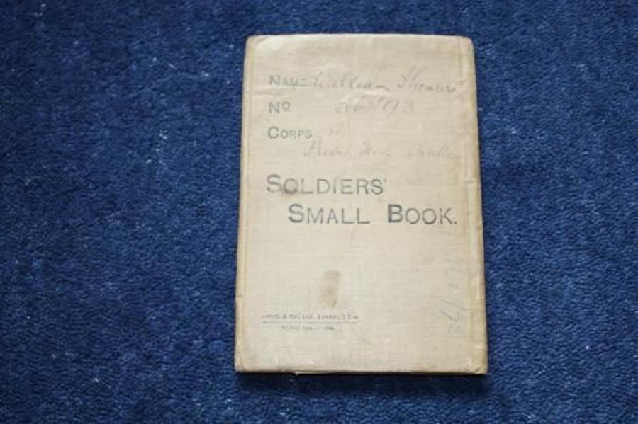 WW1 British Soldiers Small Book: Gunner William Thompson Royal Horse Artillery