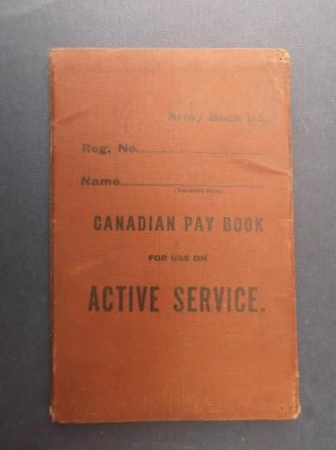 WW1 Canadian Army Pay book: Edward Walker