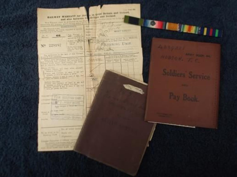 WW1 British Army Pay Book: Thomas Hudson, West Yorkshire Regiment