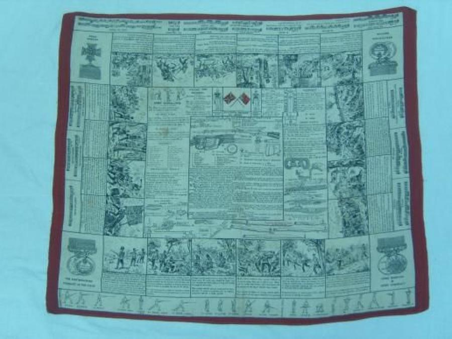 Victorian Fultons Instructional Handkerchief: Lee Metford Rifle