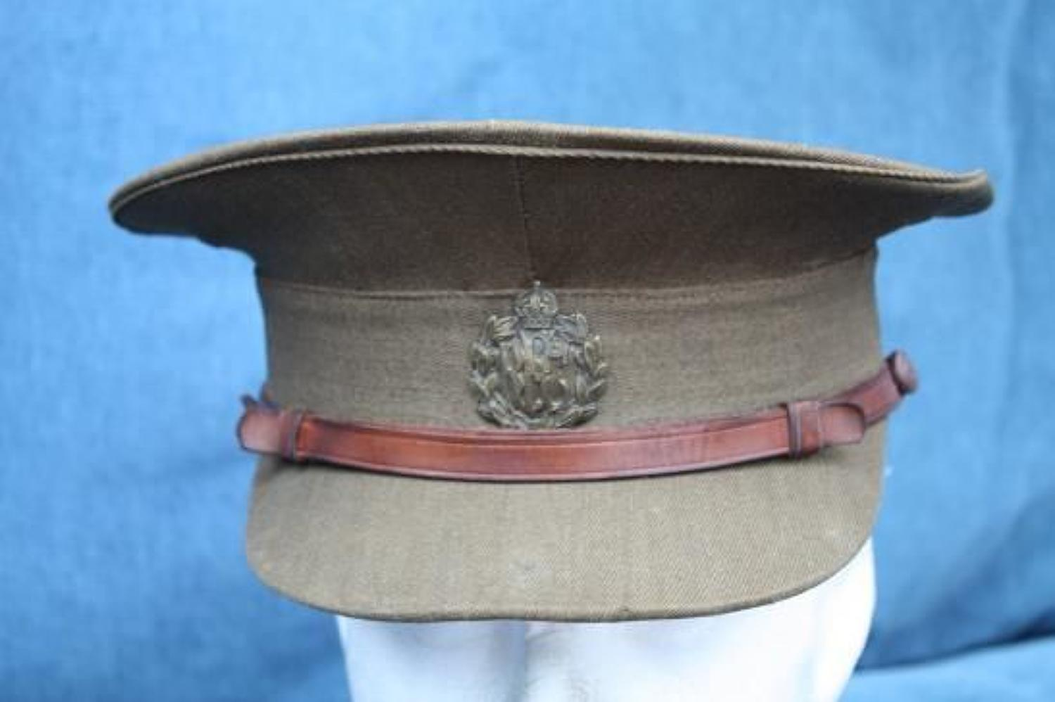 WW1 ROYAL FLYING CORPS OFFICERS SERVICE DRESS CAP WW1