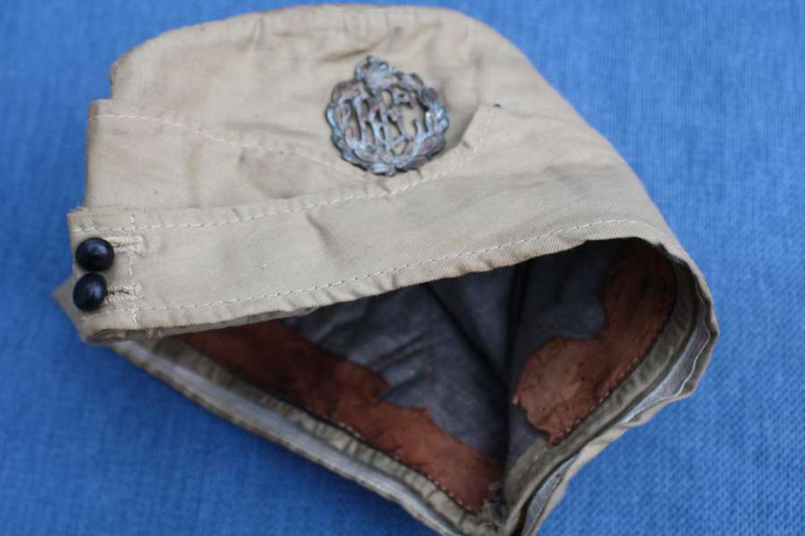 RFC WW1 Officers Khaki Drill KD Royal Flying Corps Side Cap