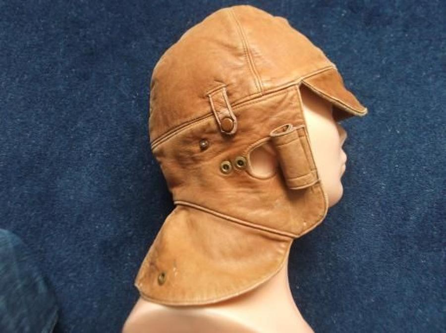 WW1 Royal Flying Corps RFC Camel Coloured Flying Helmet