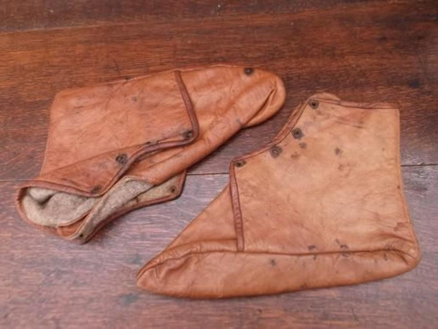BRITISH LEATHER RNAS (NAVY) OVER SHOES/ BOOTS
