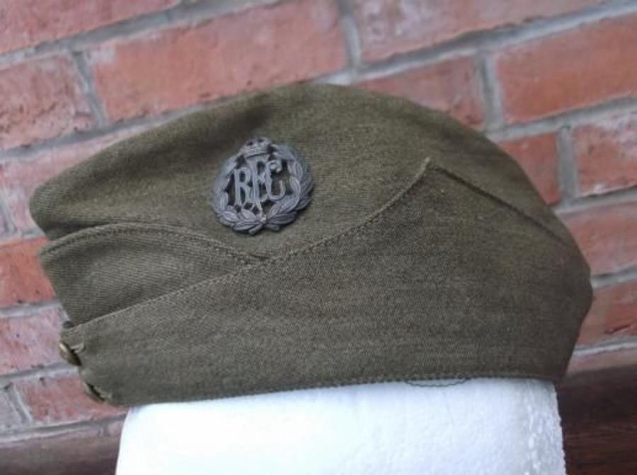 WW1 OTHER RANKS RFC KHAKI SIDE CAP 1917