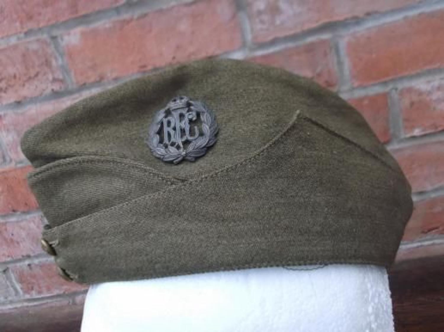 WW1 OTHER RANKS RFC KHAKI SIDE CAP 1917