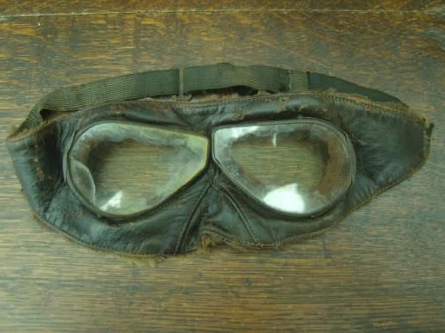 WW1 Aviators Leather Goggles. Royal Flying Corps.