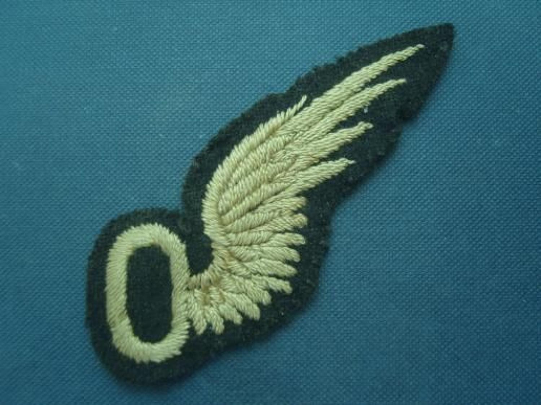 WW1 British RFC Observers tunic breast wing badge