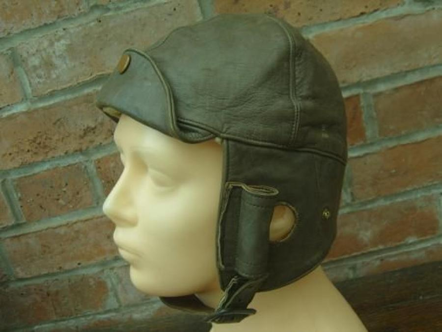 BRITISH WW1 ADASTRA RFC LEATHER FLYING HELMET