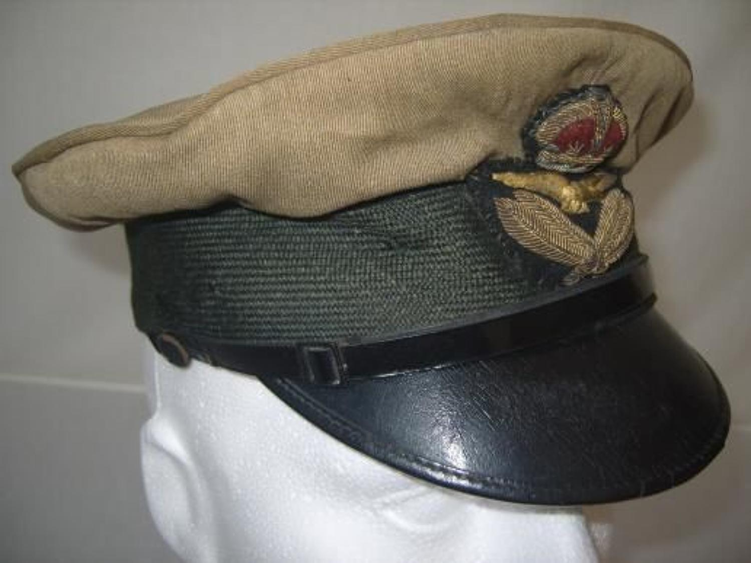 RAF First Pattern 1918 Officers Khaki cap.