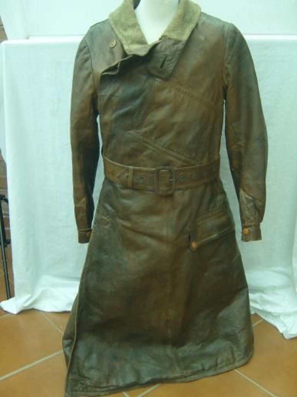 WW1 RFC Long Pattern Leather Flying Coat