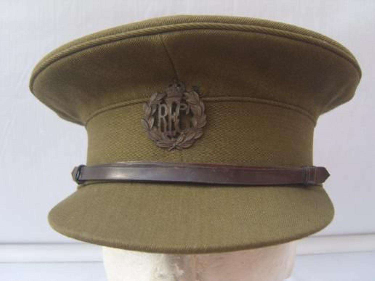 WW1 ROYAL FLYING CORPS OFFICERS SERVICE DRESS CAP