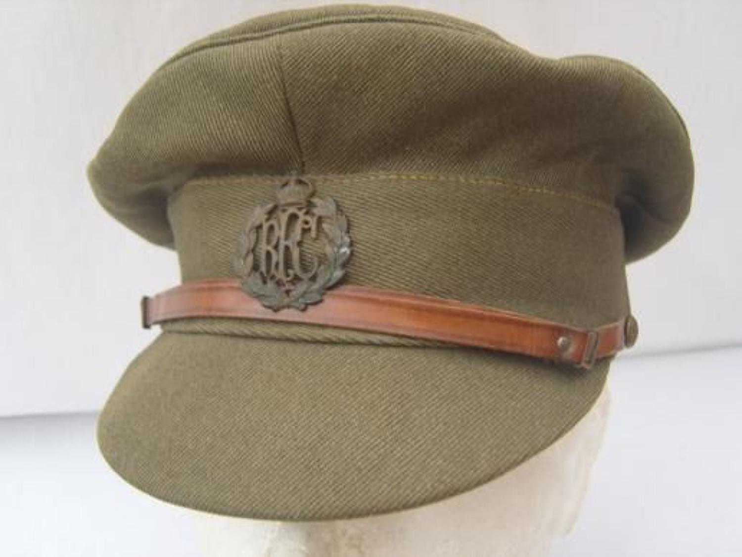WW1 ROYAL FLYING CORPS CASUALTY OFFICERS FLOPPY CAP