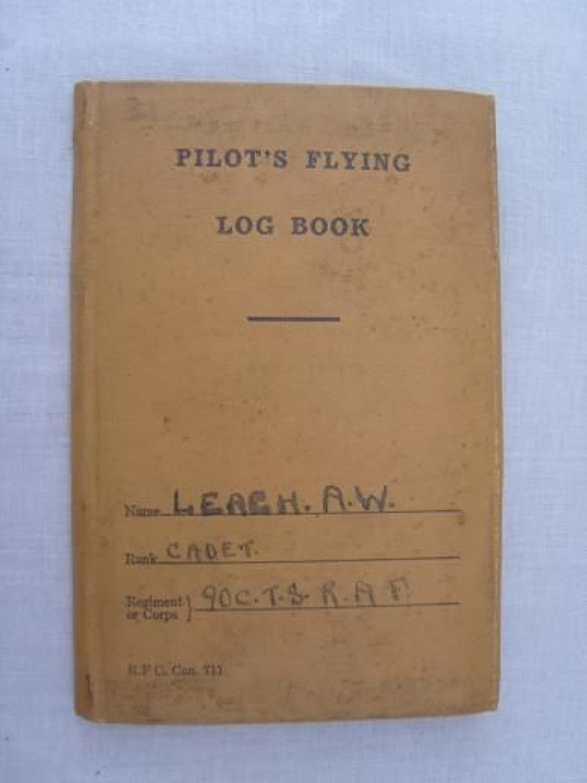 WW1 CANADIAN RFC/ RAF PILOT'S FLYING LOG BOOK.