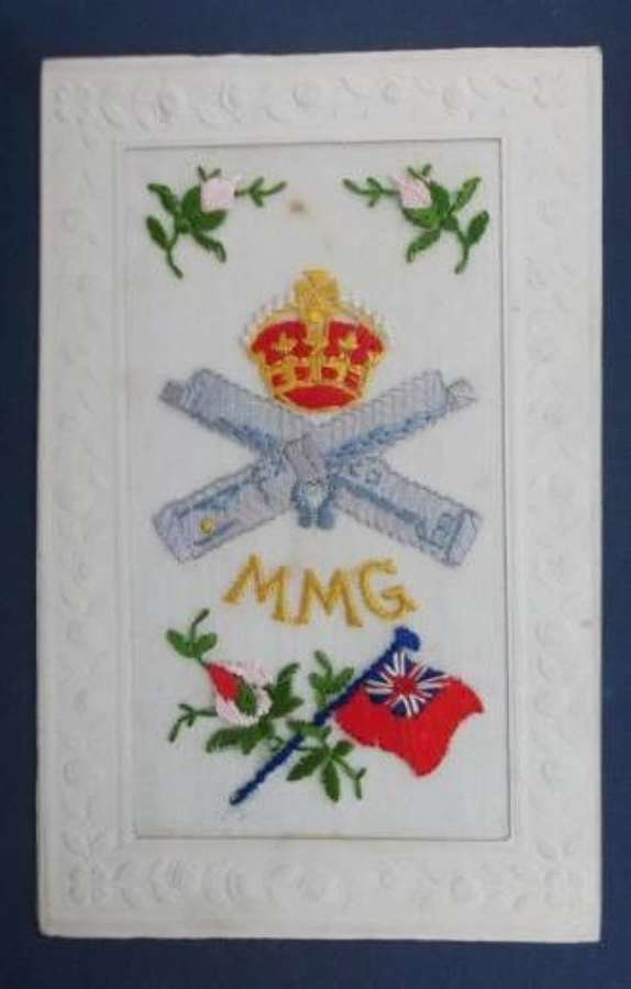 MOTOR MACHINE GUN CORPS SILK POSTCARD