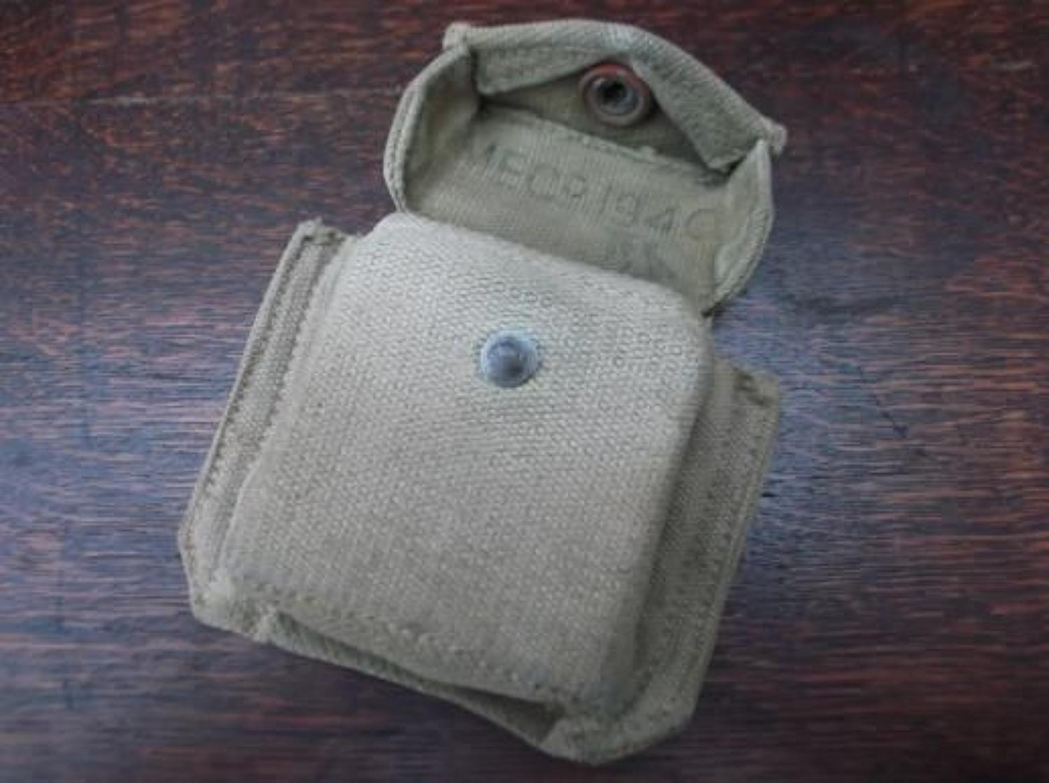 1937 Pattern marching compass Webbing Pouch 1940 Dated