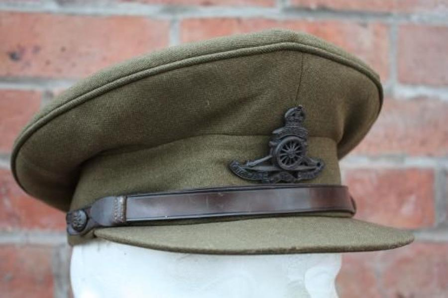 British Army WW2 Royal Artillery Officers Service Dress Cap