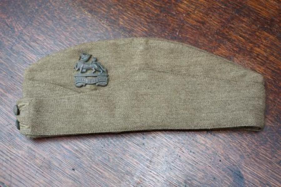 1939 Dated British Army Khaki Side Cap