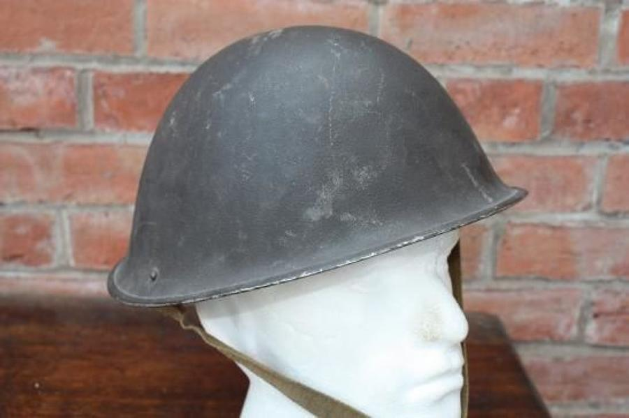 1945 DATED BRITISH ARMY TURTLE HELMET