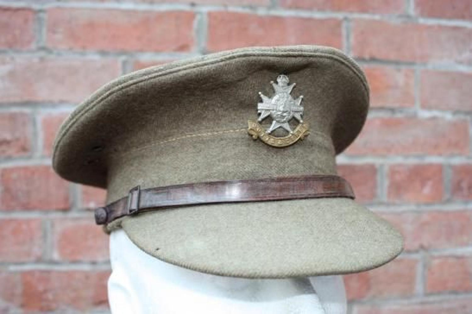 1922 PATTERN BRITISH OTHER RANKS KHAKI SERVICE DRESS CAP