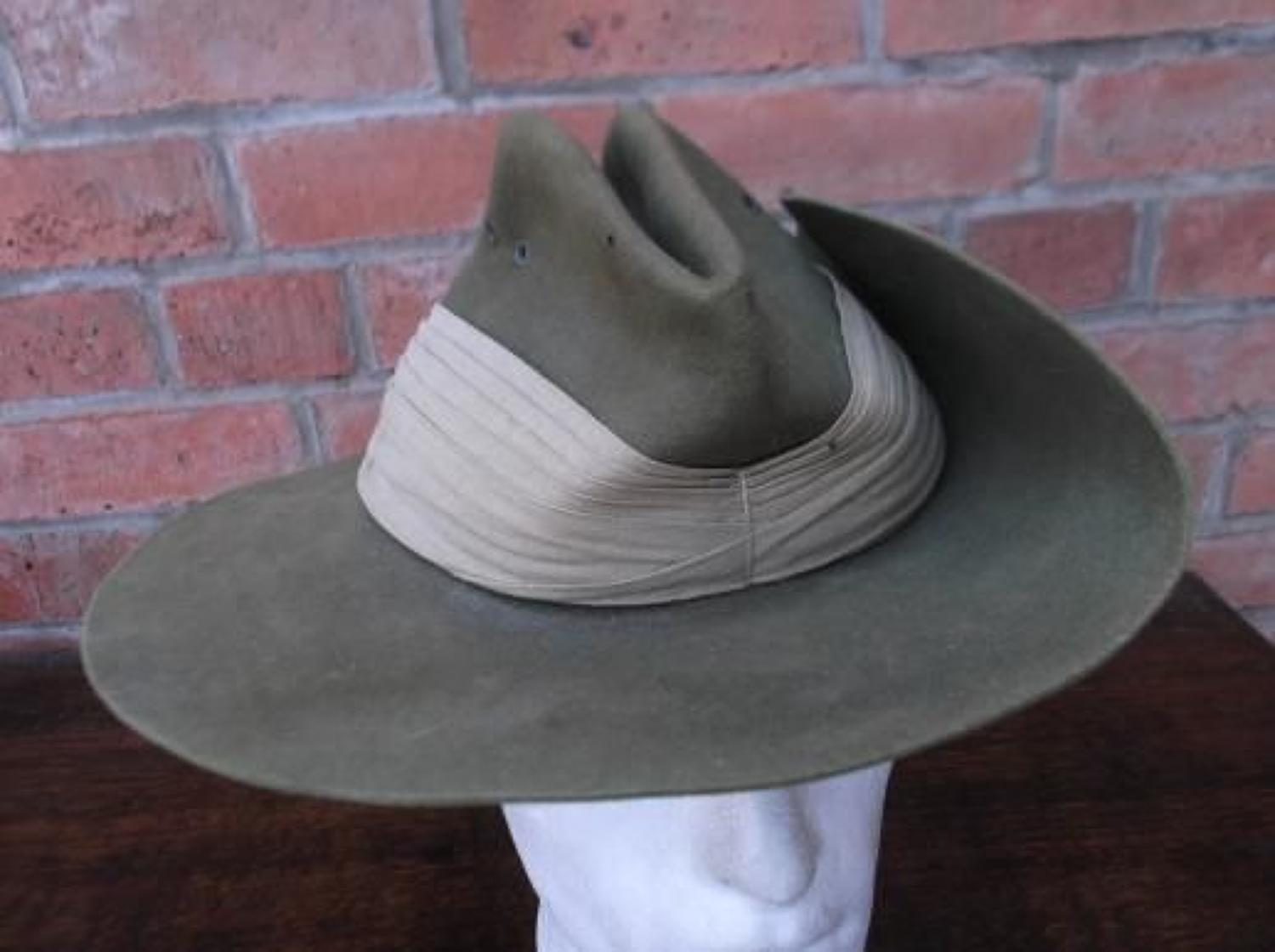Good WW2 Australian made 1944 dated Slouch Hat