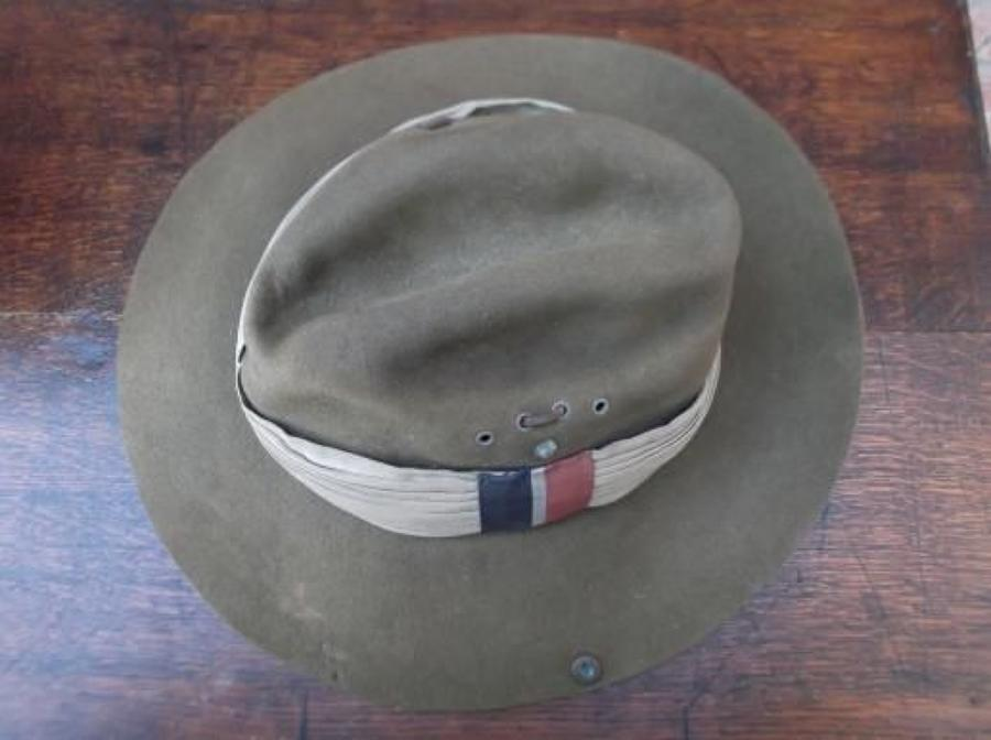 1945 Dated British made Slouch Hat with RAF flash.