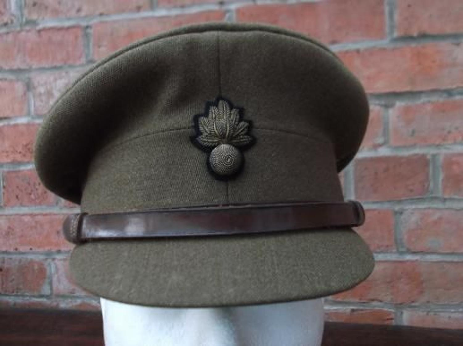 BRITISH WW2 GRENADIER GUARD OFFICERS KHAKI SERVICE DRESS CAP.