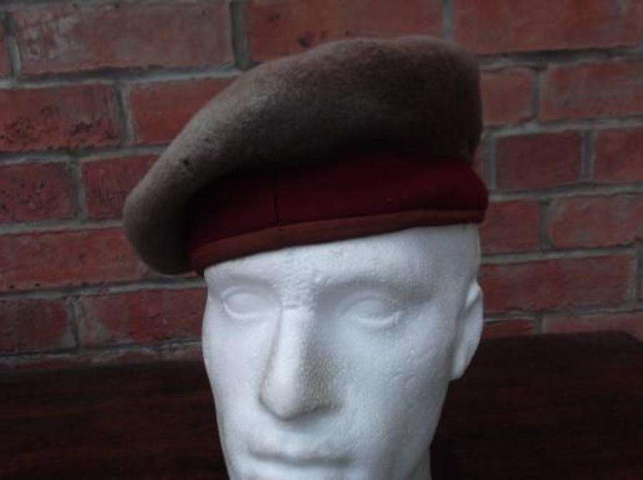 WW2 BRITISH ARMY 11th HUSSARS BERET