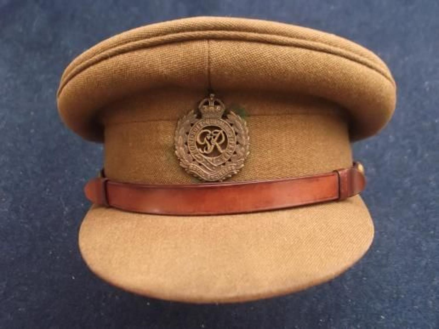 British Army WW2 Royal Engineers Officers Service Dress Cap