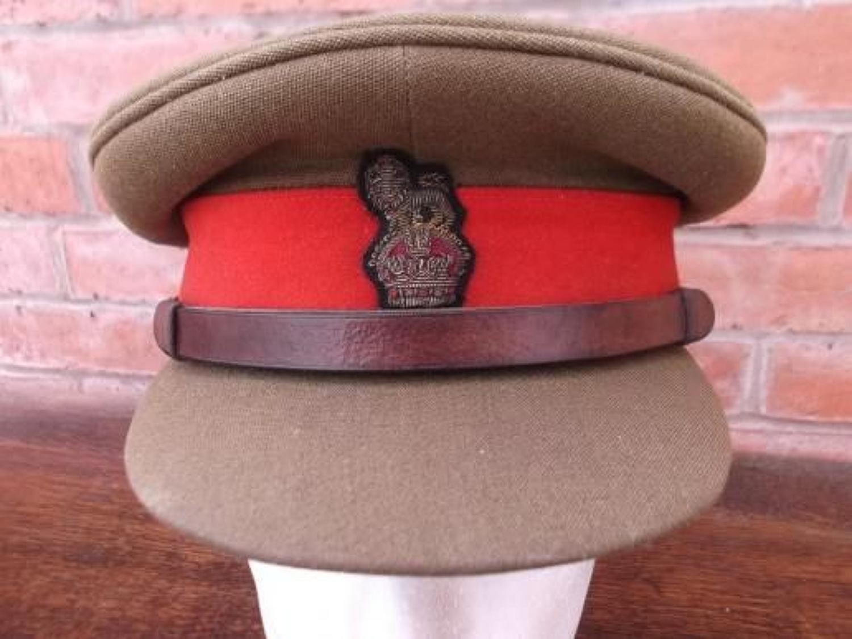 WW2 BRITISH OFFICERS STAFF RANK BRIGADIER KHAKI PEAK CAP