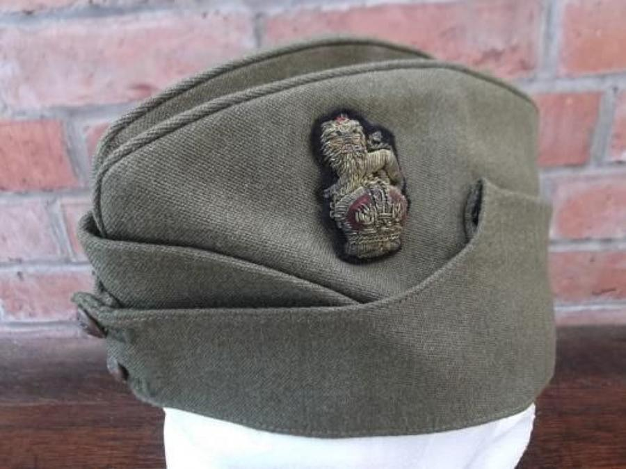 WW2 BRITISH OFFICERS STAFF RANK BRIGADIER KHAKI SIDE CAP