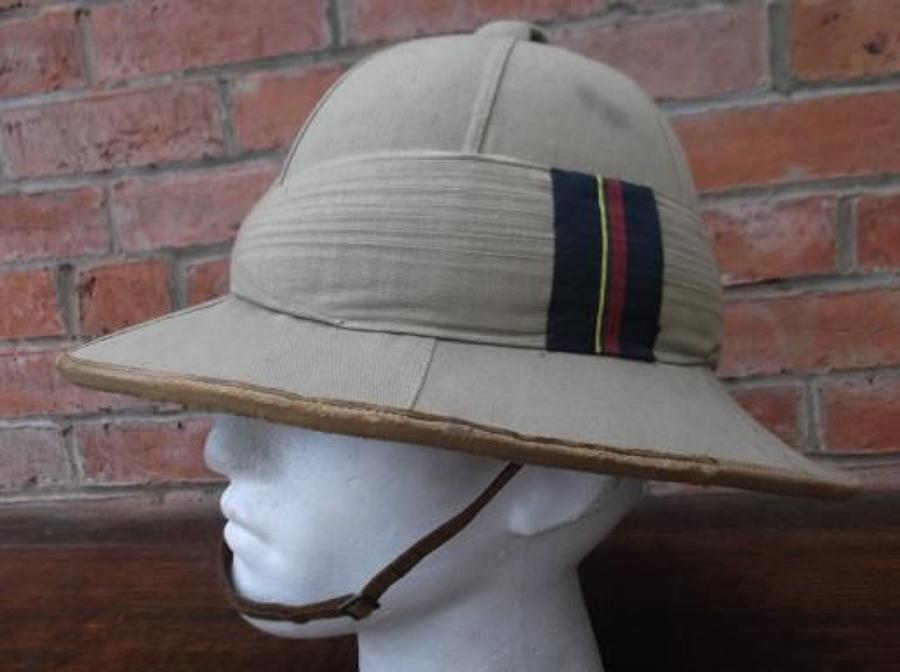 Officers Inter War Pith Sun Helmet with Royal Marine flash