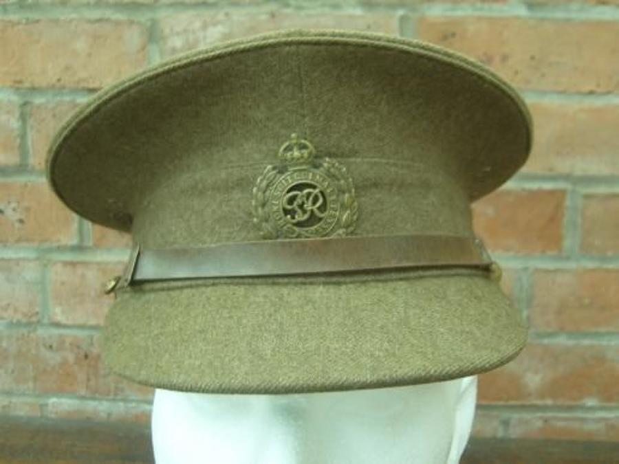 1922 PATTERN BRITISH KHAKI SERVICE DRESS CAP ROYAL ENGINEERS