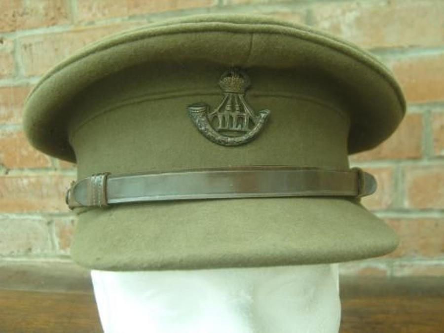 British Army, Durham Light Infantry Regiment Officers Moleskin Service Dress Cap